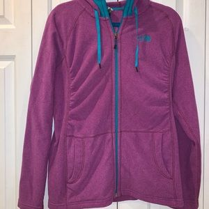 North Face fleece hoodie! Great condition!